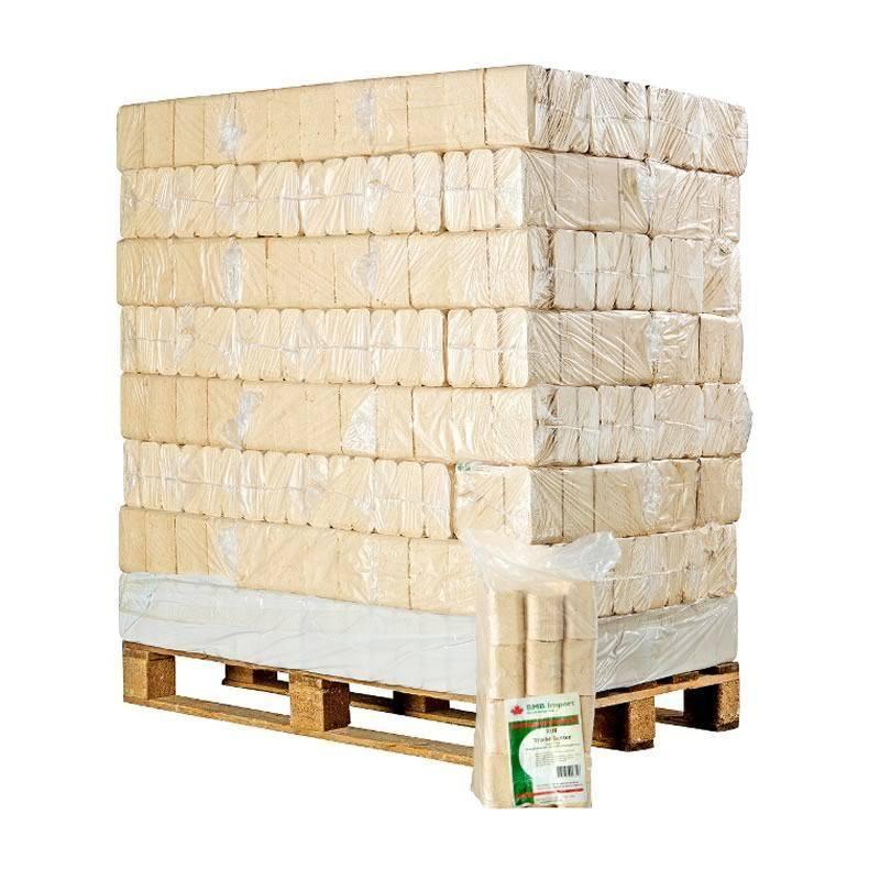 Afhentning Tjæreborg - RUF lyse træbriketter 960kg