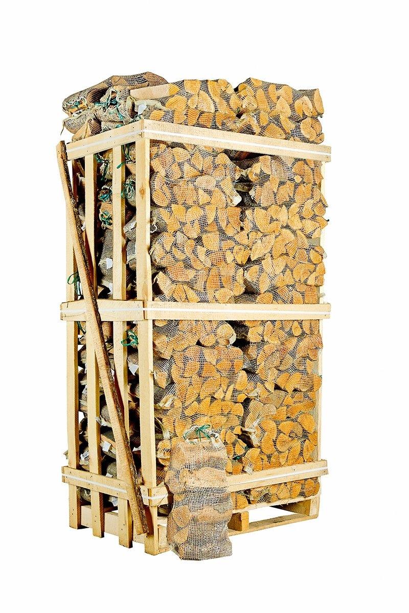 Ovntørret Ask i sække - 72 poser á 30 liter