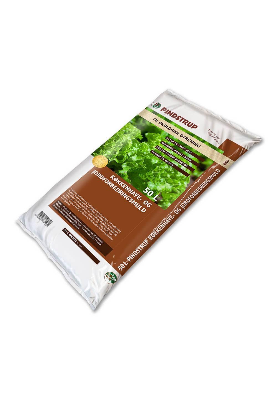 Pindstrup Køkkenhave- og jordforbedringsmuld til økologisk dyrkning - 50 liter