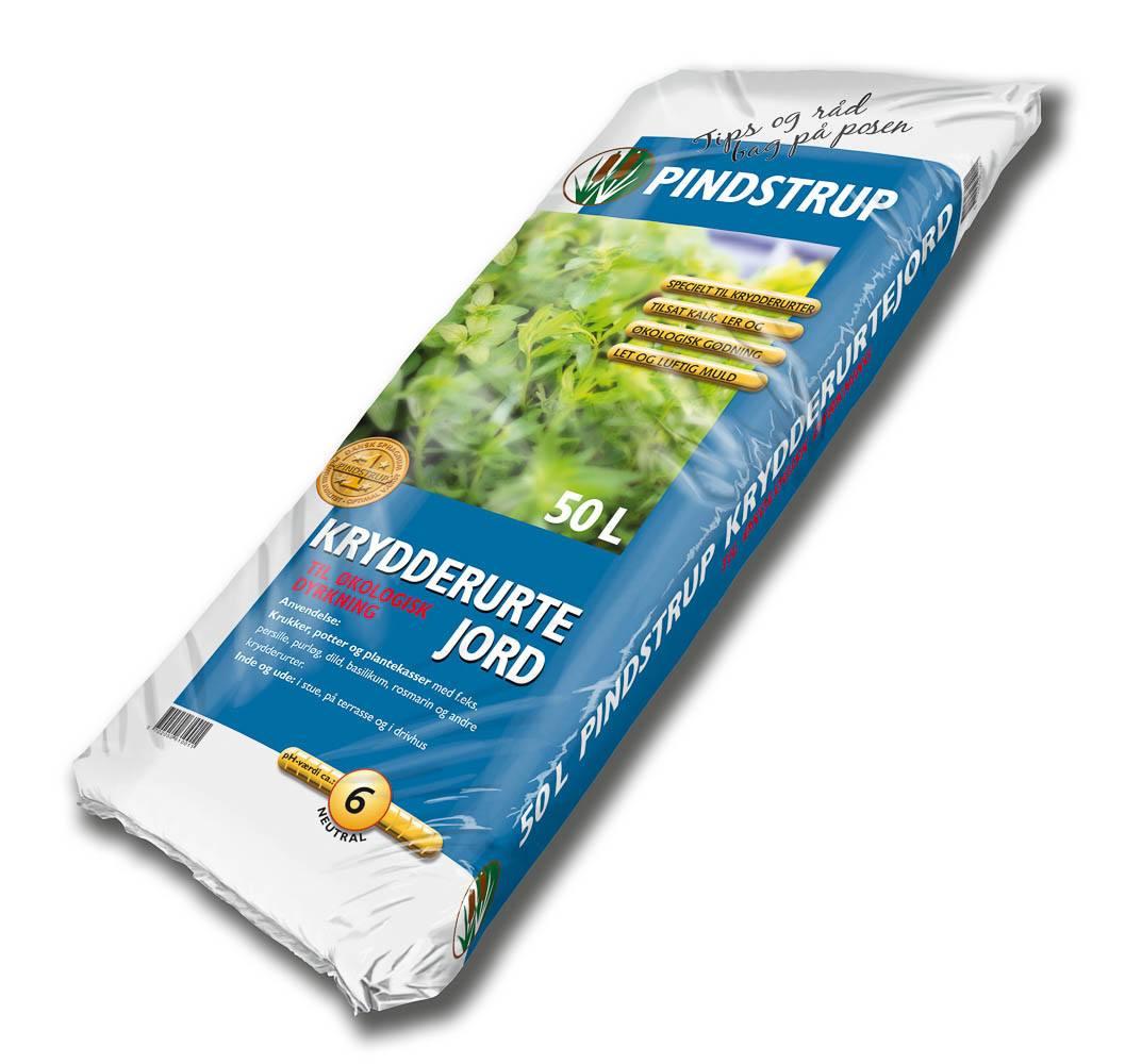 Pindstrup Krydderurtejord til økologisk dyrkning - 50 liter