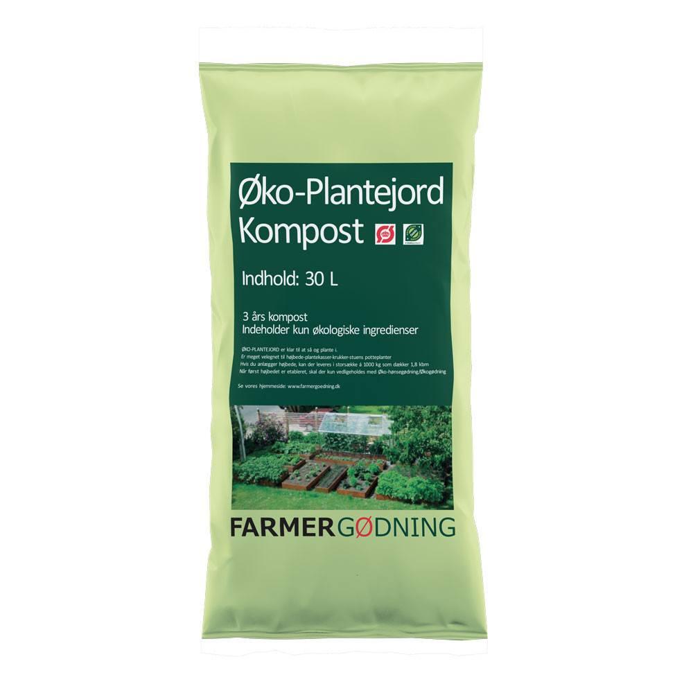 Farmergødning Økologisk Plantejord - 30 liter