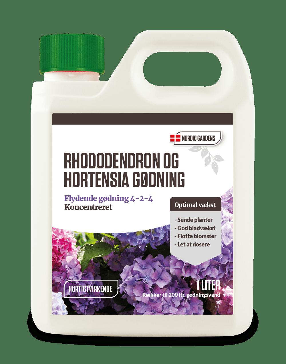 Rhododendron og Hortensia gødning
