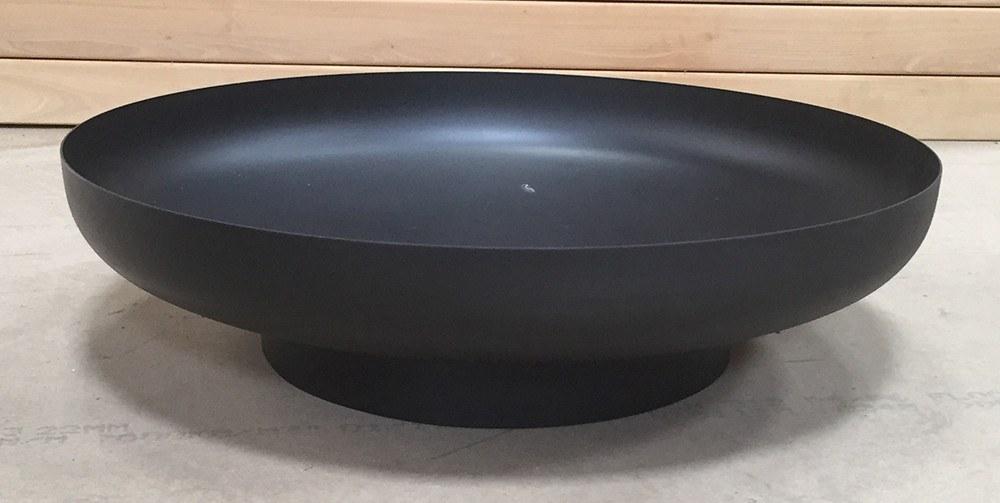 Rund sort bålfad - udstillingsmodel