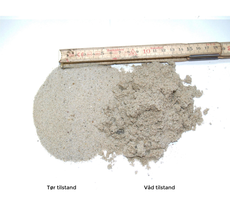 Strandsand - 15 liters pose.
