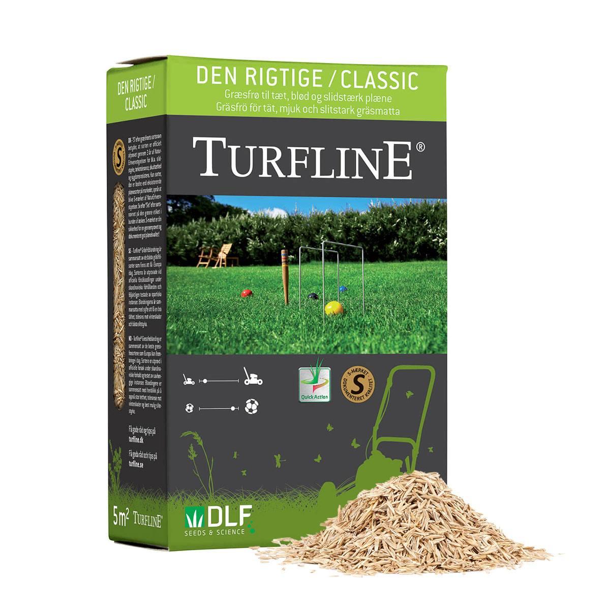 Turfline Classic - 'Den rigtige' Græsplæne - 0,1 kg.