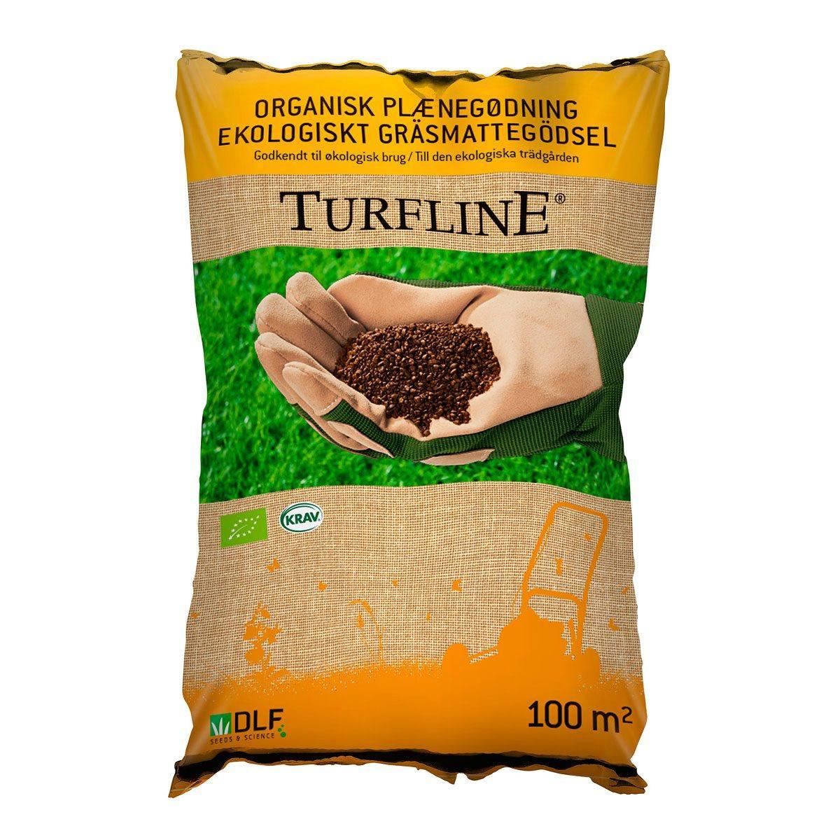 Turfline organisk plænegødning - 100 m2 - Godkendt til økologisk brug