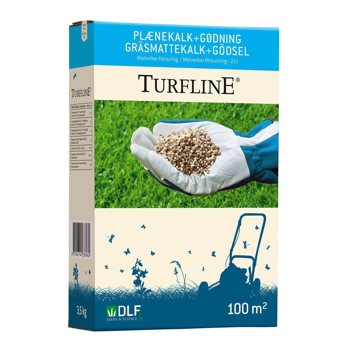 Turfline Plænekalk + Gødning 2-i-én - 3,5 kg / 100 m2
