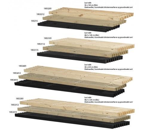 PLUS - løse traller - flere varianter - 48,5 x 220 cm