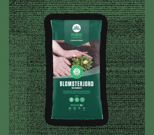 Holmebo Blomsterjord - 40 liters poser
