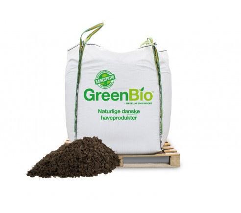 GreenBio Drivhusmuld til økologisk dyrkning - Bigbag á 1000 liter