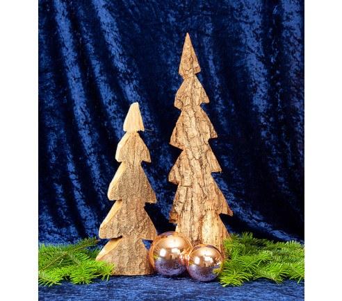 Juletræ med bark - flere størrelser