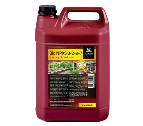 BioNutria Urtehaven NPKS 8-2-9-7 Gødning - 5 liter