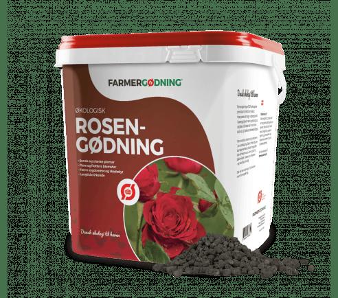 Økologisk rosengødning 5 liter spand