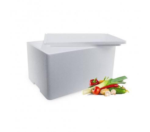 Frugt og grønt kasse med låg - 50 liter