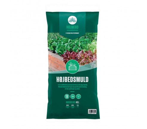 Holmebo Højbedsmuld  - 40 liters poser