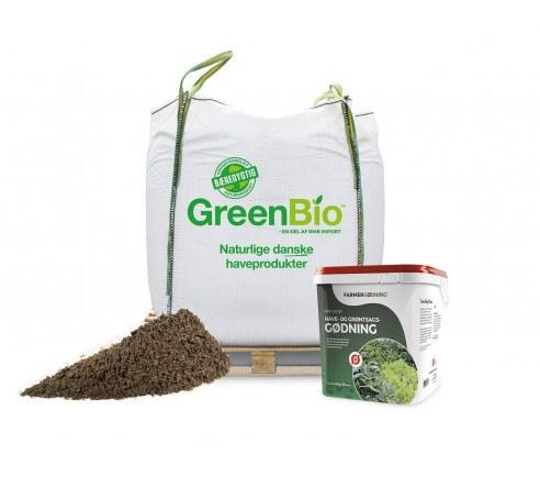 GreenBio øko Køkkenhavemuld og have- og grøntsagsgødning