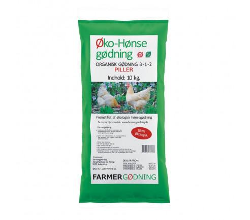 Økologisk hønsegødning i piller 10 kg