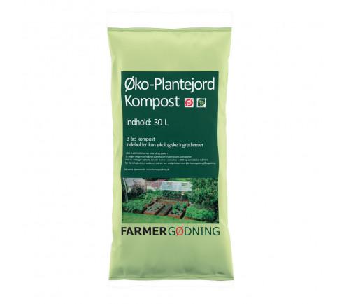 Økologisk plantejord 30 liter