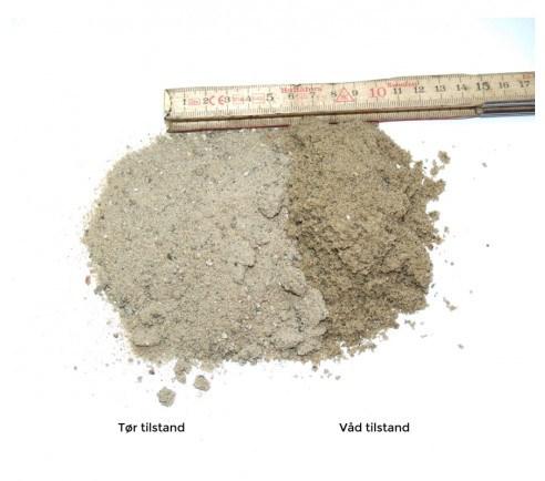 Pudsesand 0-5 mm - bigbag á 1000 kg.