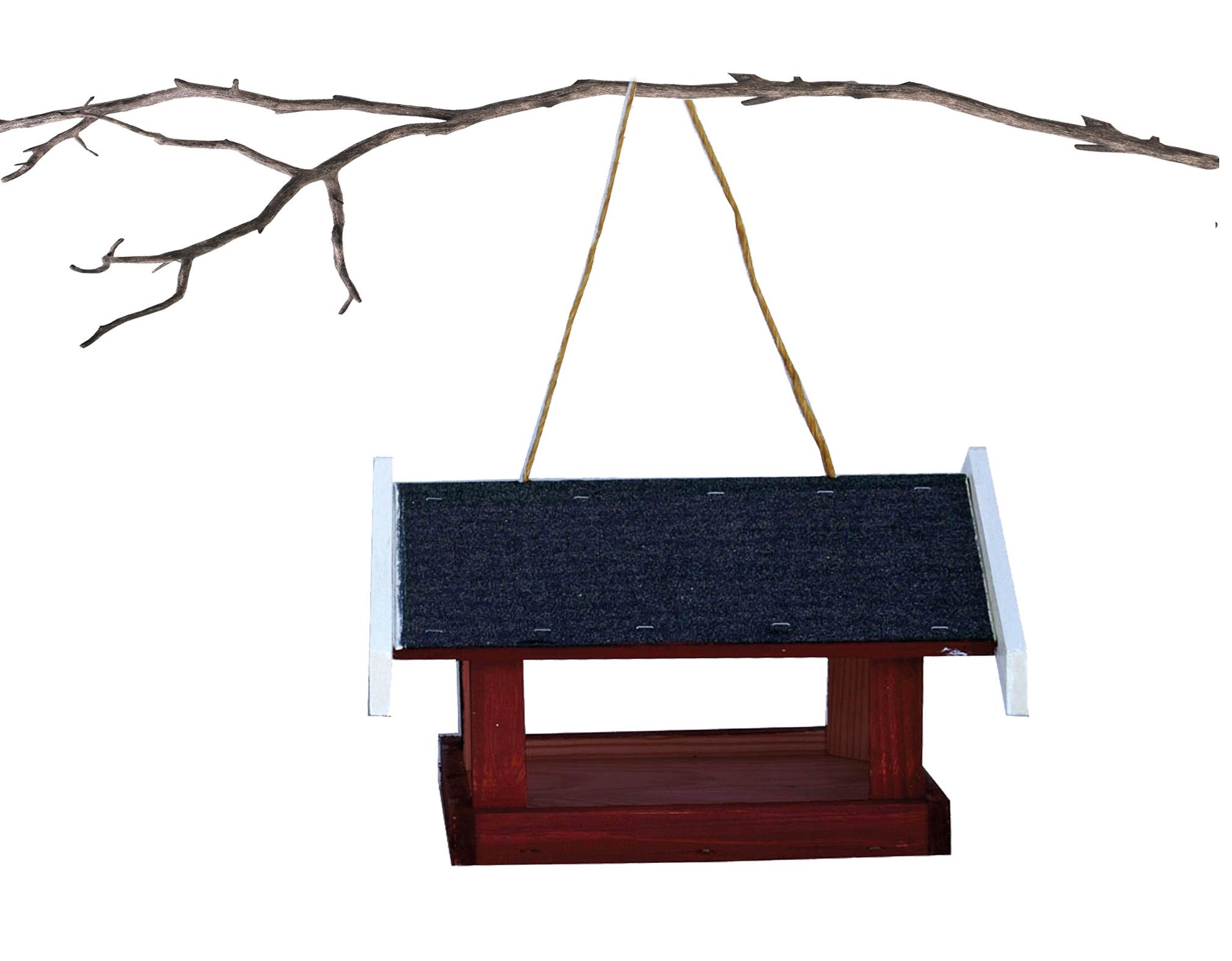Image of   Foderhus Nordic hænge, rød træ