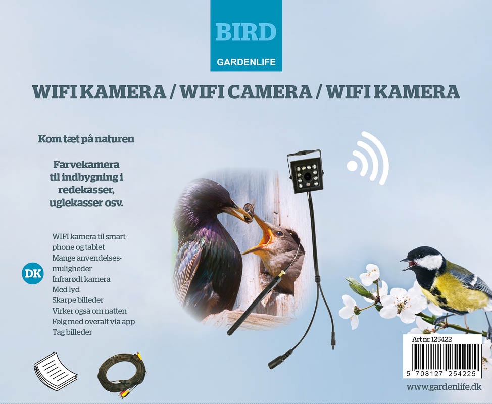 Image of   Kamera sæt, WIFI til smartphone/tablet via app