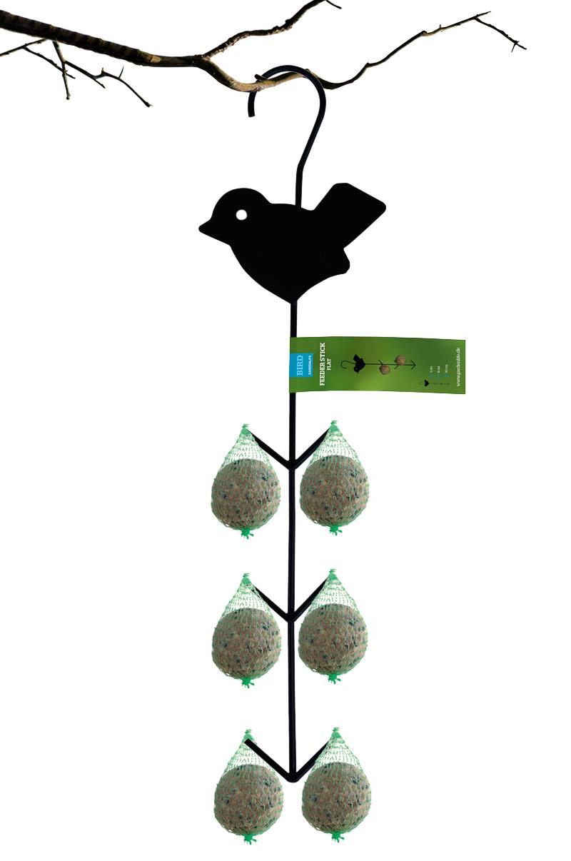 Image of   GardenLife Foderpind flad til 6 stk mejsebolde/mejsekugler