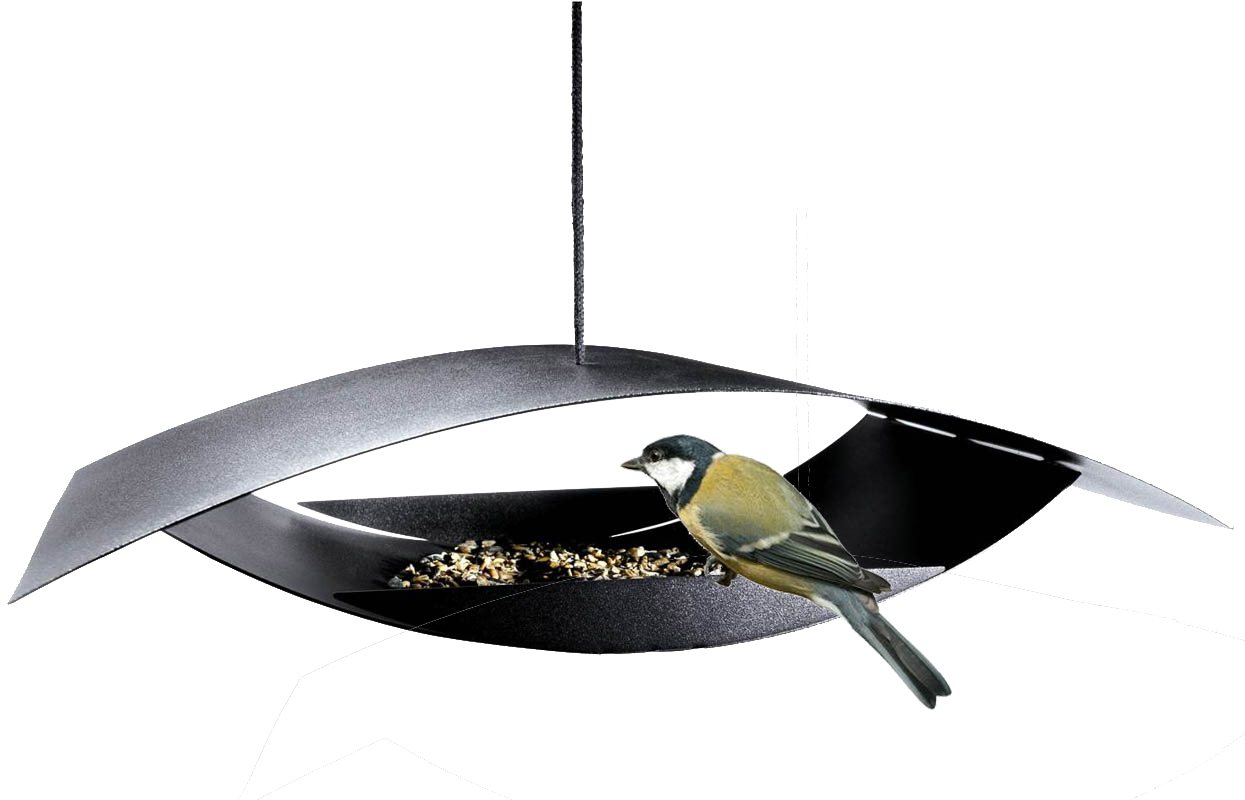 Image of   Foderhus Mågen, skulptur til fugle og have