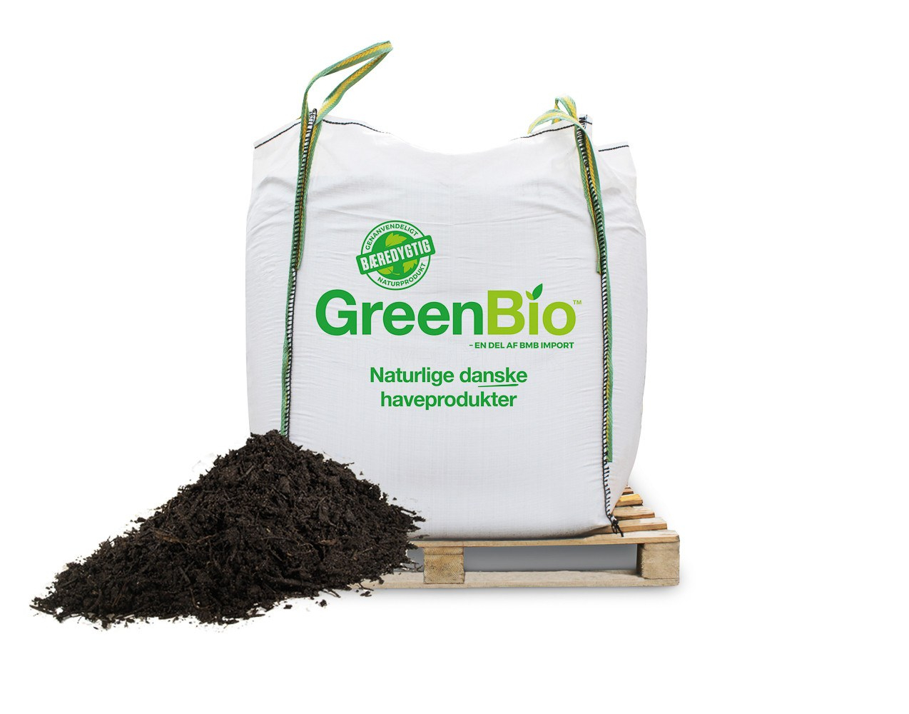 Image of   GreenBio Jordforbedring Vækst - Bigbag á 1000 liter.