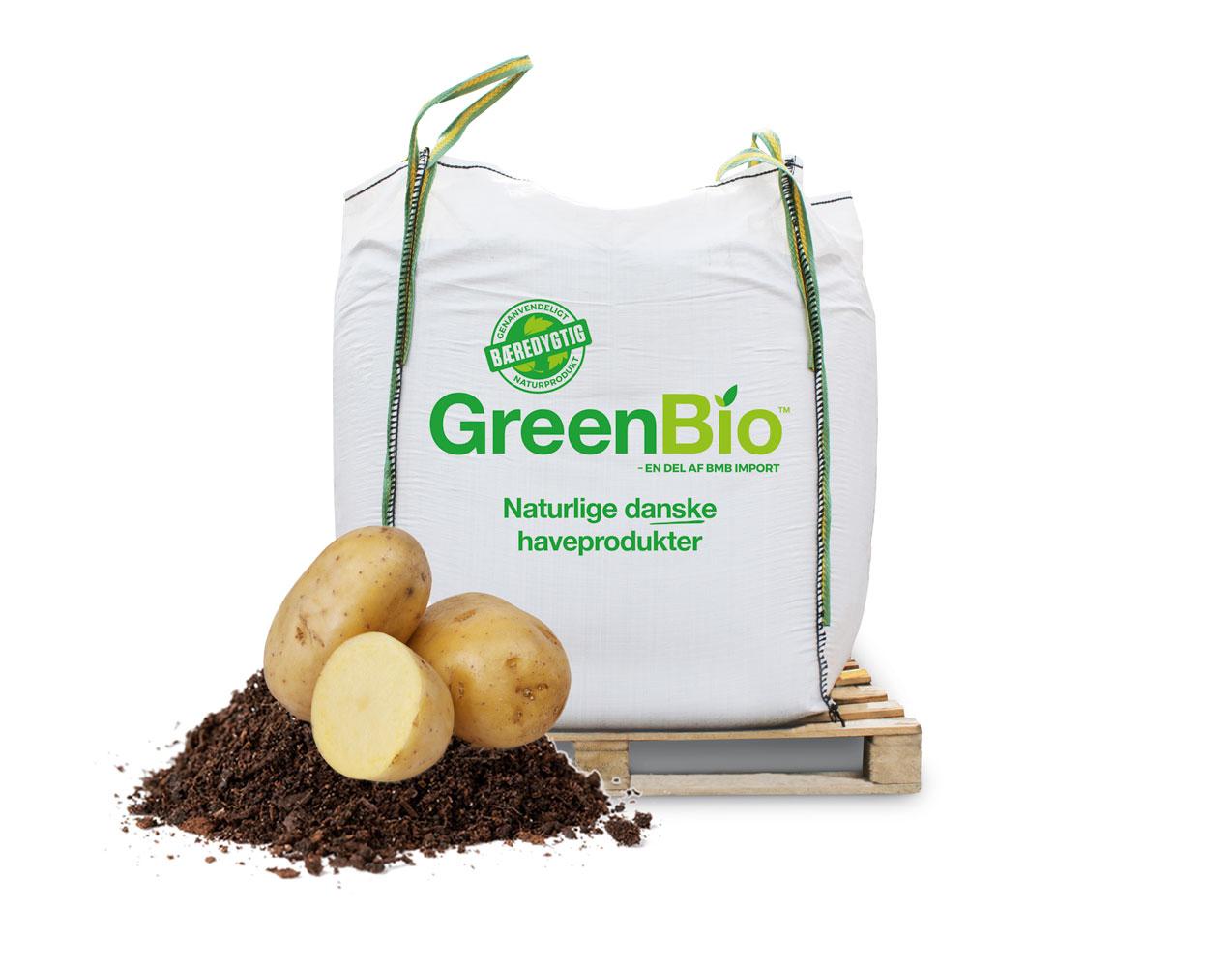 Image of   GreenBio kartoffelmuld til økologisk dyrkning á 1000 liter