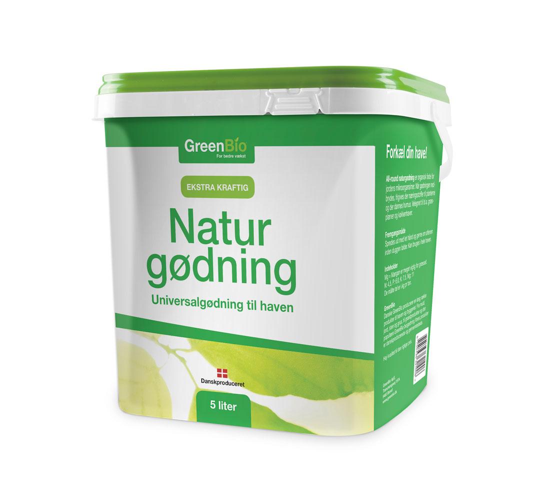 Image of   GreenBio Naturgødning - 5 liter NPK gødning
