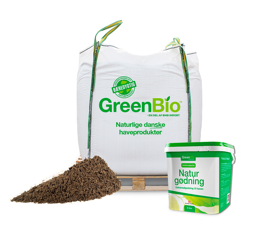 Image of   GreenBio Topdressing og 5 liter Naturgødning - Bigbag á 1000 liter.
