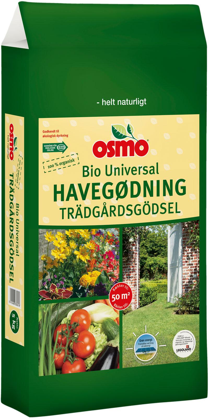 Image of   Osmo Bio Havegødning - 5 kg. pose - økologisk dyrkning
