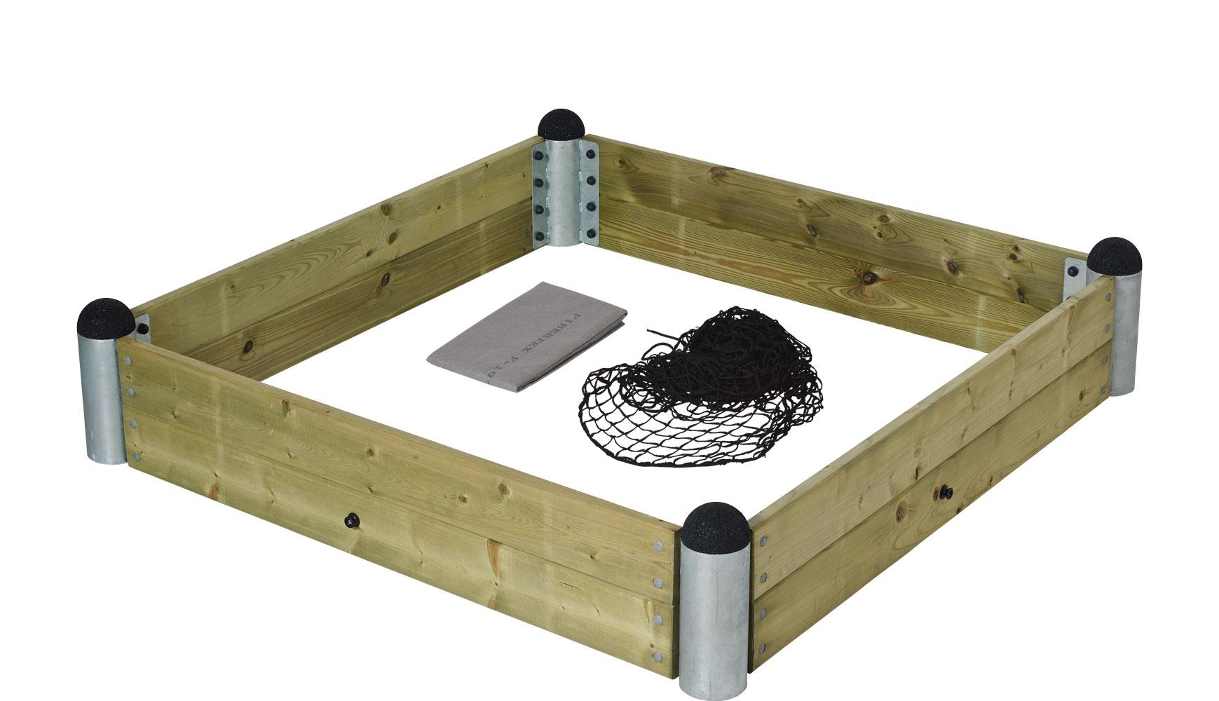 Image of   Pipe sandkassekit - inkl. trykimp. planker