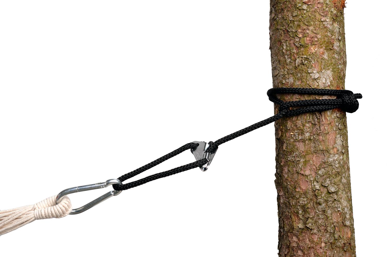 Smartrope, sort - nem ophæng til hængekøjer