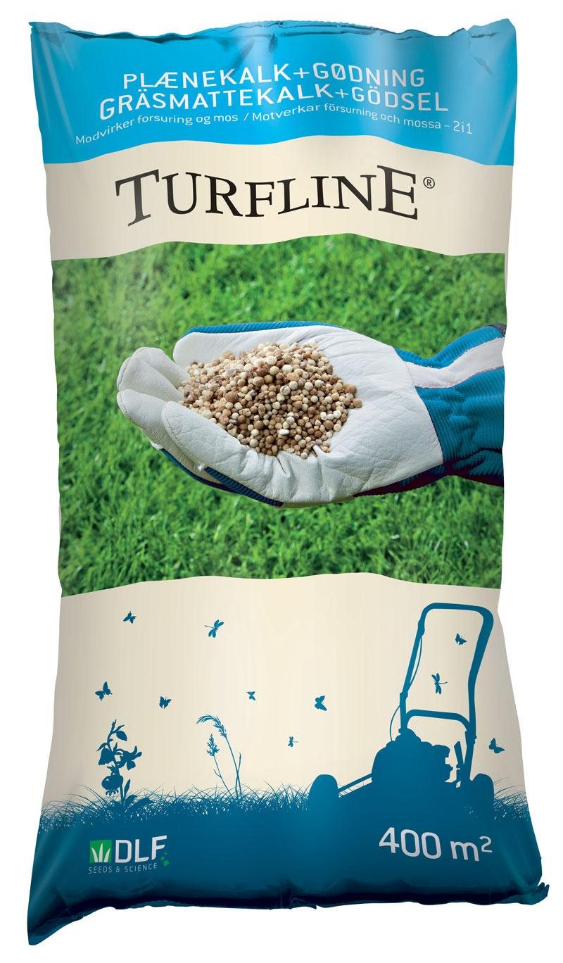 Turfline Plænekalk + Gødning (2-i-én) - 15 kg. - NPK 11-2-4 granuleret