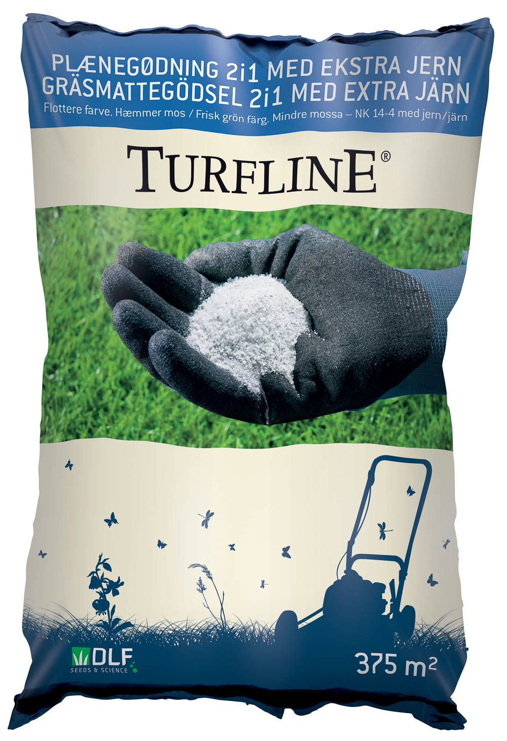 Turfline Plænegødning 2i1 med ekstra jern, 7,5 kg. - NK 12-5